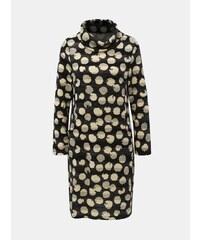dbe1fe0dfb14 Krémovo–čierne bodkované šaty s rolákom Smashed Lemon