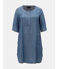 d80d8971d513 Modré rifľové šaty Zizzi Emily