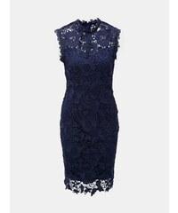 15292e68de70 Tmavě modré krajkové pouzdrové šaty Dorothy Perkins