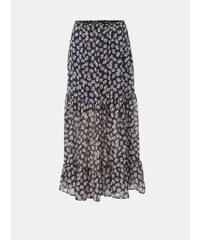 c8ed1d9dbc7e Tmavě modrá květovaná maxi sukně Jacqueline de Yong Gismo