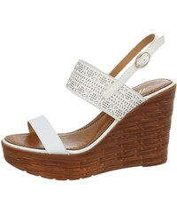f5afde4e0690 Biele Dámske sandále na platforme
