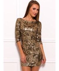 a22faa73638b Due Linee Dámska šaty s flitrami - zlatá