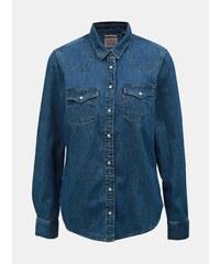 f72202ddf7ea Modrá dámska classic fit rifľová košeľa Levi s