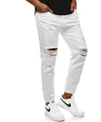 40d6bb9ec68f Pánske nohavice Biele OZONEE B 55082