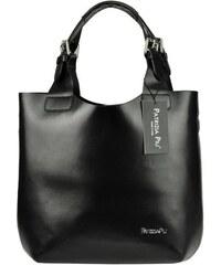 ab51619358 Černá kožená dámska kabelka Patrizia Piu
