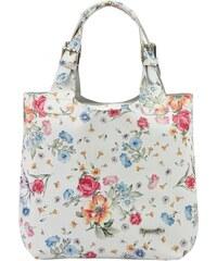 15e103e8ec Biela kožená dámska kabelka Patrizia Piu v motíve kvetov