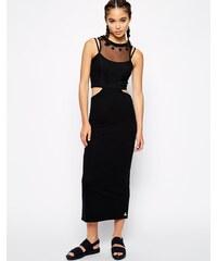 Pippa Lynn - Figurbetontes Kleid mit Zierausschnitten und Netz-Akzent - Schwarz