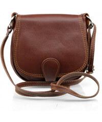 22e64a8c5b kožená menší hnědá brown crossbody kabelka na rameno Lundy VERA PELLE 34054