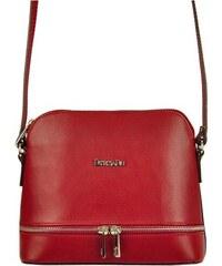b6aa613887 Kožená červená malá dámska crossbody kabelka Patrizia Piu