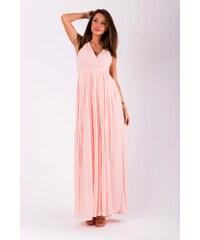 9dc4f650da17 Eva Lola Dlouhé plisované šaty růžové