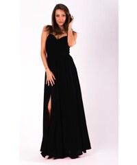 a97021289cd7 Eva Lola Dlouhé plesové jednoduché šaty černé