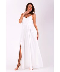 e13c079dd017 Eva Lola Dlouhé plesové jednoduché šaty bílé