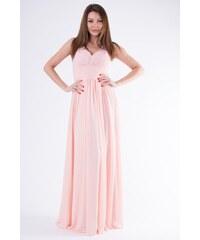 5989b0a06915 Eva Lola Pudrově růžové večerní šaty s kamínky