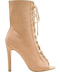 bbfbb59478a9 GLAM GLAMADISE shoes Dámske letné šnurovacie čižmy camel