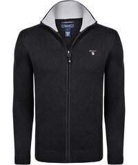 1251132ee446 Černý luxusní svetr na zip od Gant