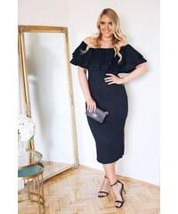 c6357dd266ca ZAZZA Čierne elegantné šaty s odhalenými ramenami