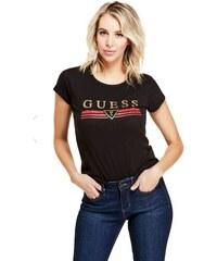 cd134121855c GUESS tričko Matti Metallic Logo Tee čierne