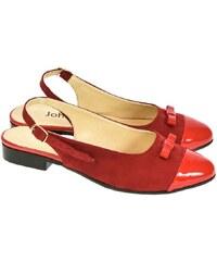 f3fea31777b4 JOHN-C Dámske červené sandále EVELINE 36