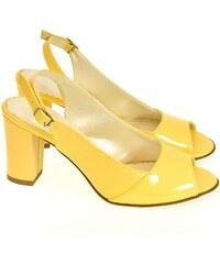 2beec53315a8 JOHN-C Dámske žlté sandále SAINA 35