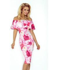 271fa757861c Numoco Kvetované šaty s volánom 138 6