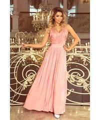aaf5b541bfb2 Strikingstyle 215-4 LEA dlhé šaty   pastelovo ružové