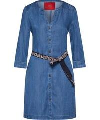 bf89fd29cb09 S.Oliver RED LABEL Košilové šaty modrá džínovina