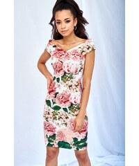 6b9077f21b84 Kvetované midi šaty MQ-651