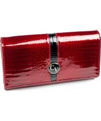 444e252b24 4U Cavaldi červená peňaženka s čiernym zvislým pruhom H24