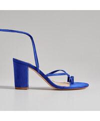 f9acc3bfc9 Mohito - Sandále na podpätku s členkovými remienkami - Modrá