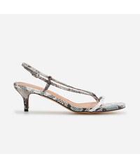 df7443b237bf Reserved - Sandále na stredne vysokom podpätku - Viacfarebná