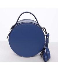 fa5f767181 Malá královsky modrá elegantní dámská kožená kabelka - ItalY Husna modrá