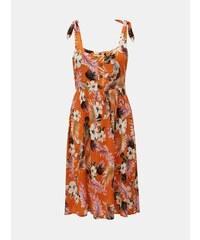 74085be408b0 Oranžové kvetované šaty na ramienka Dorothy Perkins Petite