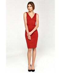 596ddb57e671 Spoločenské dámske šaty s94 Nife - červené