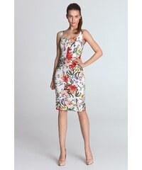 b6bcce72a69c Nife Kvetinové dámske šaty s118 - ecru
