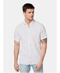 1e21ee748d02 Bílá pánská lněná košile Tom Tailor