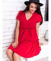 39c40cceaf38 www.glashgirl.sk Červené šaty s krátkym rukávom Aisha