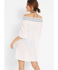 2dca2bdfa068 LM moda Háčkované šaty   sukně na pláž bílé 2v1 Adrielle - Glami.cz