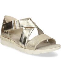 64339bbce700 Bata Zlaté dámske sandále na svetlej podrážke