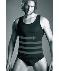 Zeštihlující pánské triko Mitex Body Perfect 180/190, černá