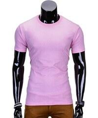 72101978bdff Inny Jednofarebné pánske tričko ružové s970
