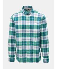 768f083c0f9d Bílo-zelená pánská kostkovaná regular fit košile Tommy Hilfiger
