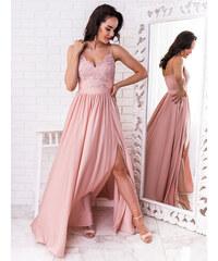 63640fa4c915 www.glashgirl.sk Púdrovo-ružové dlhé spoločenské šaty Bella