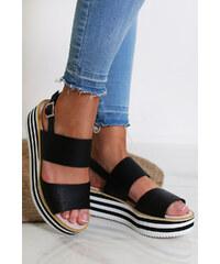 aa3a0c83748b Moow Čierne platformové sandále Cecile