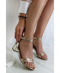 97018fbbcab1 Sergio Todzi Zlaté sandále Clarice