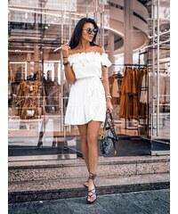 de8b814d2d9f Butikovo Smotanovo biele volánové šaty Olivia O la Voga