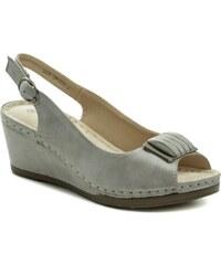 83ad8056af T.Sokolski šedé dámske sandále na kline Six DK802