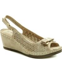 f00528445d54 T.Sokolski béžové dámske sandále na kline Six DK802