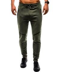 f647bd93f6bb Ombre Clothing Originálne tepláky p742 v olivovej farbe