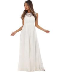 20c39c4dd421 Eva   Lola Bílé šaty svatební s krajkou