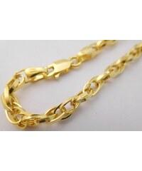 8b3180754 Pretis Ozdobný mohutný dámský zlatý gravírovaný náramek šířka 4mm délka  18cm 585/2,77gr